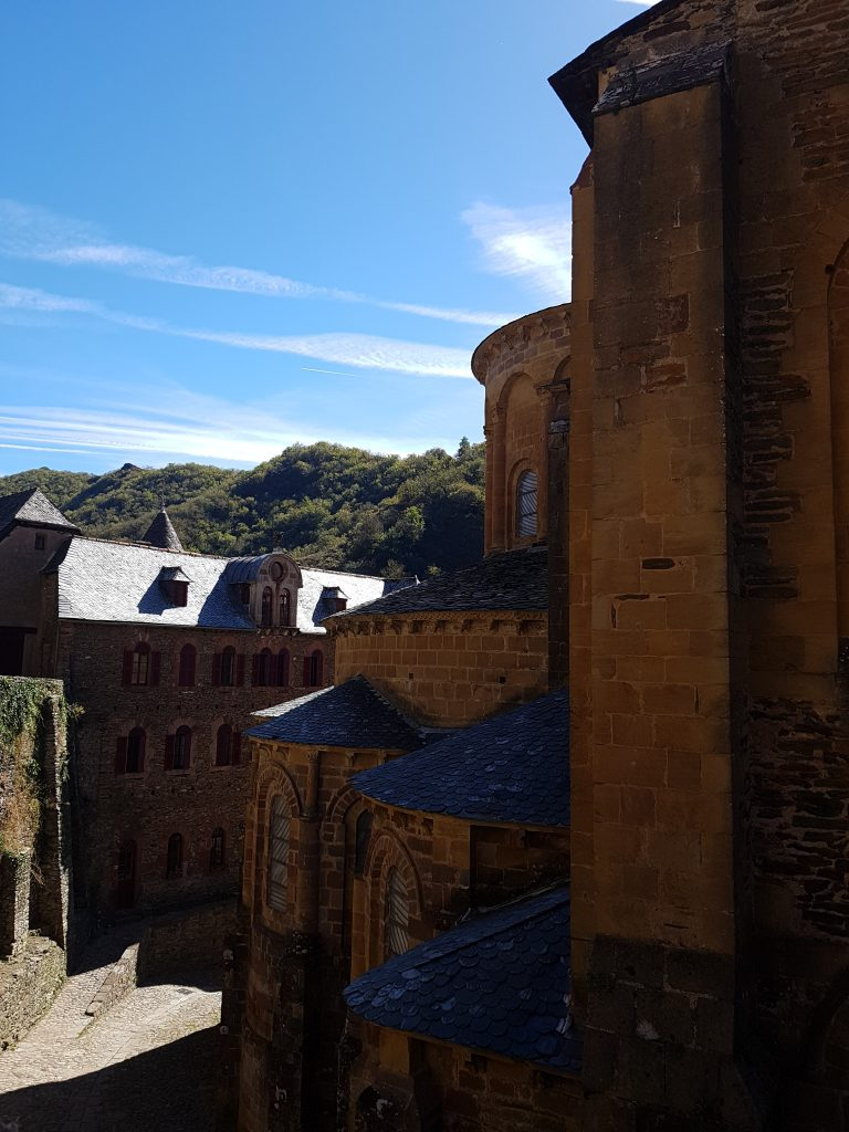 conques church back side