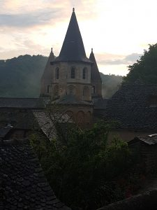 Conques in the evening