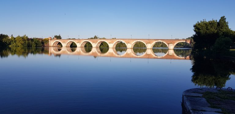 Napoleon bridge in Miossac